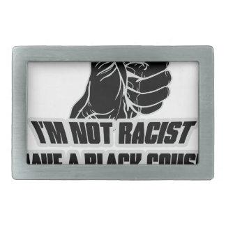 No soy racista hebilla cinturón rectangular