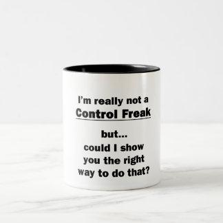 No soy realmente obseso del control taza dos tonos