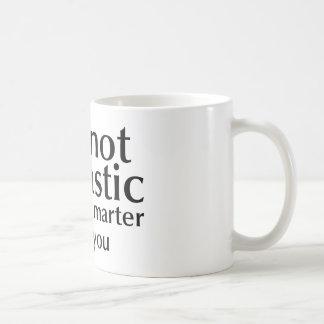 No soy sarcástico taza de café