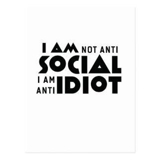 ¡No soy social anti al idiota anti de la! Postal