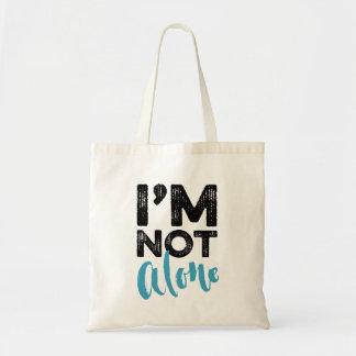 No soy solo - dé el diseño de la tipografía de las bolsa tela barata