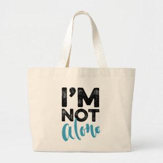 No soy solo - dé el diseño de la tipografía de las bolsa tela grande