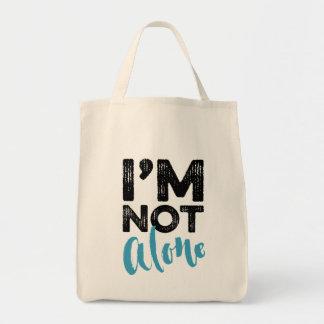 No soy solo - dé el diseño de la tipografía de las bolsa tela para la compra