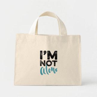 No soy solo - dé el diseño de la tipografía de las bolsa tela pequeña