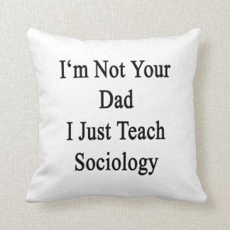No soy su papá que apenas enseño a la sociología cojin