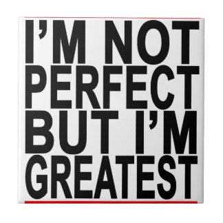 No soy T-SHIRT.png PERFECTO Azulejo Cuadrado Pequeño