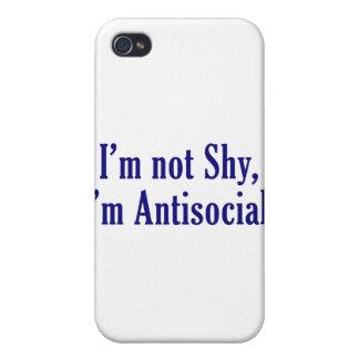 No soy tímido - soy antisocial iPhone 4 cobertura