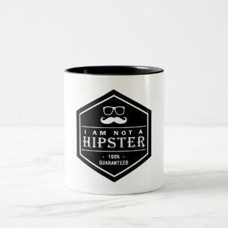 No soy un bigote divertido garantizado el 100% del taza dos tonos