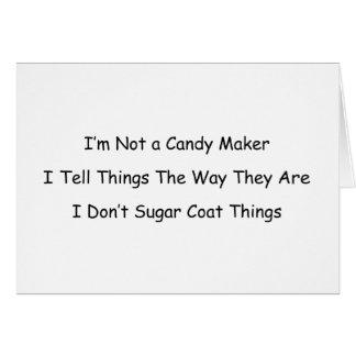 No soy un fabricante del caramelo tarjeta pequeña
