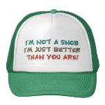 No soy un humor que insulta del snob gorro