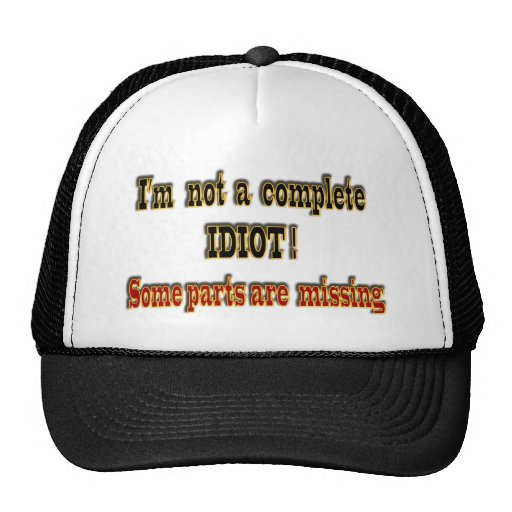 No soy un idiota completo gorra