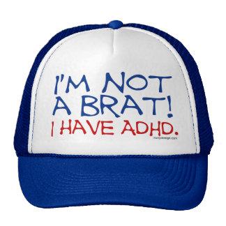 ¡No soy un palo de golf! Tengo ADHD Gorros Bordados