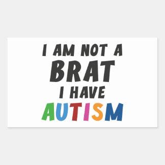No soy un palo de golf, yo tengo autismo pegatina rectangular