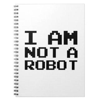 No soy un robot libretas