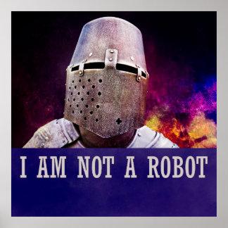No soy un robot póster