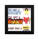 No soy un santo o un pecador cajas de regalo