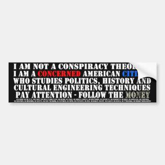 No soy un teórico de la conspiración - soy histori pegatina para auto
