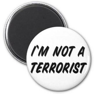 No soy un terrorista imán redondo 5 cm
