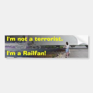 No soy un terrorista. ¡Soy un Raifan! Pegatina Para Auto