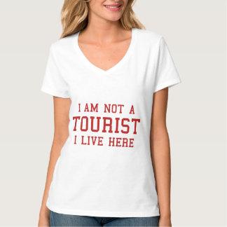 No soy un turista que vivo aquí camisas