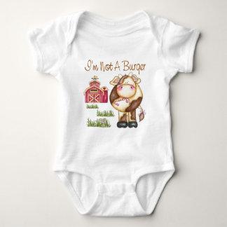 No soy un vegano de la hamburguesa/un bebé body para bebé