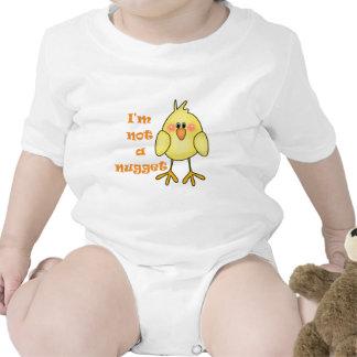 No soy un vegano de la pepita/un bebé vegetariano camisetas