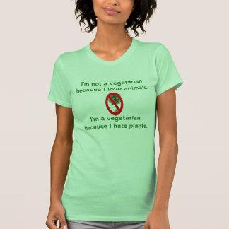 No soy un vegetariano porque amo animales camisetas