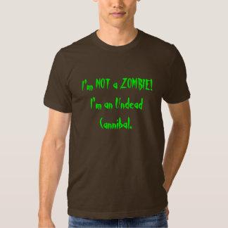 No soy un zombi, yo soy un caníbal de los undead remeras