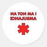 no soy una ambulancia pegatinas redondas
