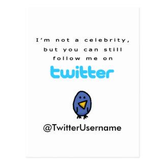 No soy una celebridad… me sigo en gorjeo postales