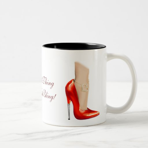 No soy una cosa sin mi taza roja de los zapatos de