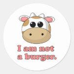 No soy una hamburguesa pegatinas redondas