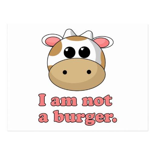 No soy una hamburguesa postales
