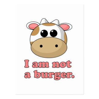 No soy una hamburguesa postal