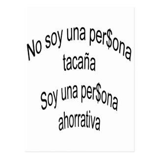 No Soy Una Persona Tacana Soy Una Persona Ahorrati Postcards