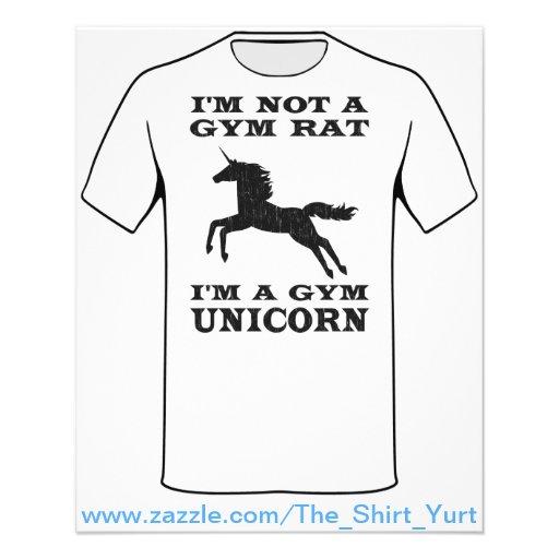 """No soy una rata del gimnasio que soy un unicornio folleto 4.5"""" x 5.6"""""""