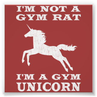 No soy una rata del gimnasio que soy un unicornio  fotografía