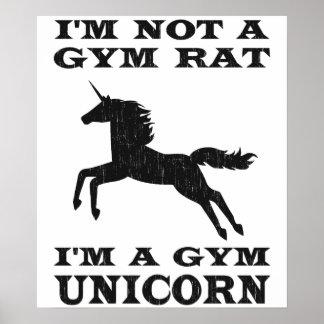 No soy una rata del gimnasio que soy un unicornio póster