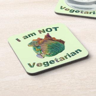 No soy vegetariano posavasos de bebidas