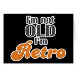 No soy viejo, yo soy 50.o divertido retro del cump tarjeta
