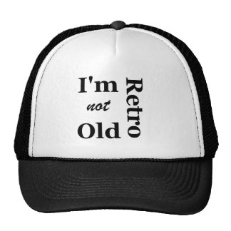 No soy viejo yo soy casquillo retro de los camione gorros bordados
