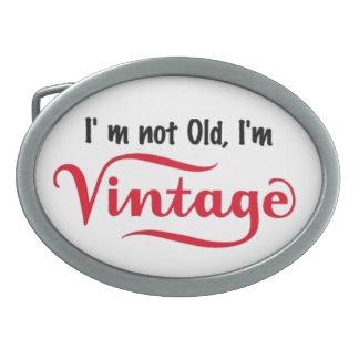No soy viejo yo soy diseño del vintage hebillas de cinturon ovales