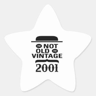 No soy viejo, yo soy el vintage 2001 calcomanías forma de estrellaes personalizadas