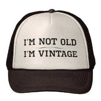 No soy viejo, yo soy vintage (el divisor) gorras
