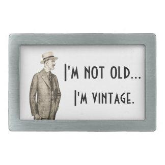 No soy viejo… yo soy vintage hebillas cinturon rectangulares