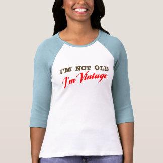 No soy viejo, yo soy vintage (la escritura) camiseta