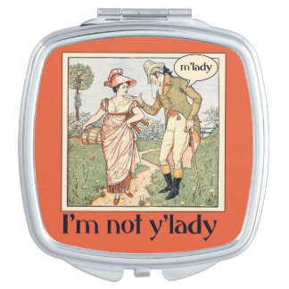 No soy y'lady espejo compacto
