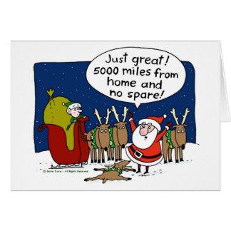 No Spare Santa Card