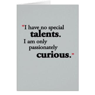 No Special Talent Card