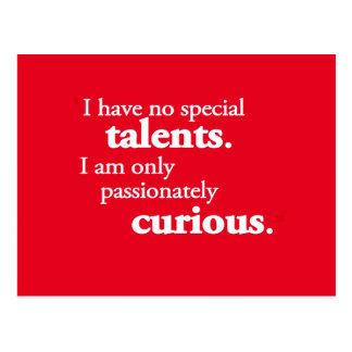No Special Talent Postcard